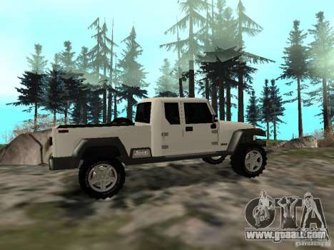 Jeep Gladiator for GTA San Andreas right view