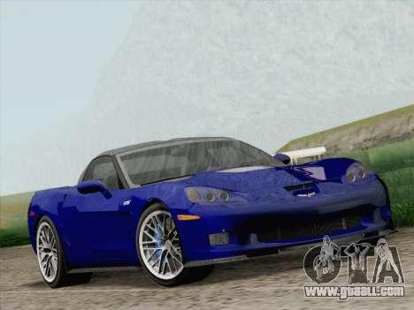 Chevrolet Corvette ZR1 for GTA San Andreas back view