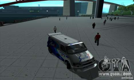 Ford Transit Supervan 3 2004 for GTA San Andreas inner view