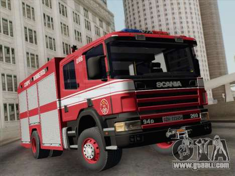 Scania 94D-260 Corpo Bombeiros SP for GTA San Andreas left view