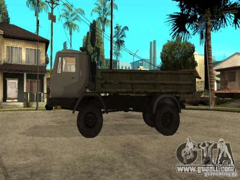 KAZ 4540 dump truck for GTA San Andreas left view