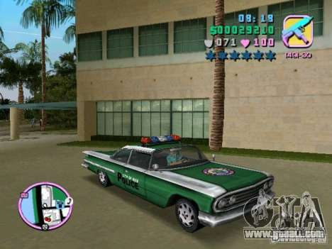 Voodoo Police for GTA Vice City left view