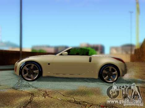 Nissan 350Z Cabrio for GTA San Andreas right view