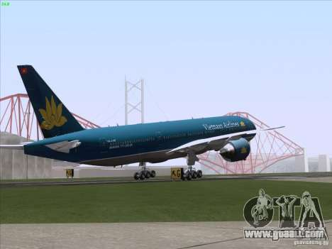 Boeing 777-2Q8ER Vietnam Airlines for GTA San Andreas engine