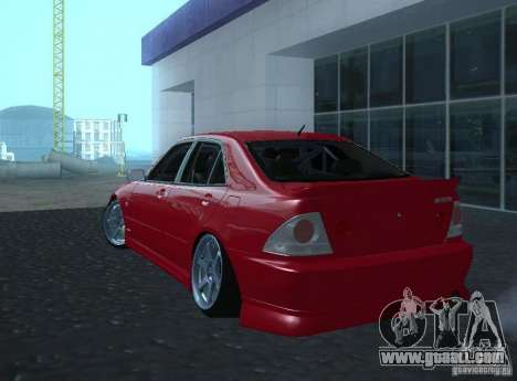 Toyota Altezza for GTA San Andreas right view