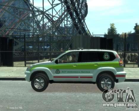 Toyota Land Cruiser Prado Police for GTA 4 left view