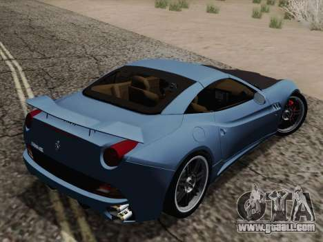 Ferrari California for GTA San Andreas bottom view