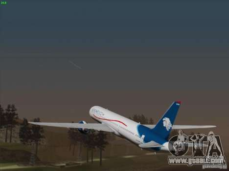 Boeing 787-8 Dreamliner AeroMexico for GTA San Andreas back view