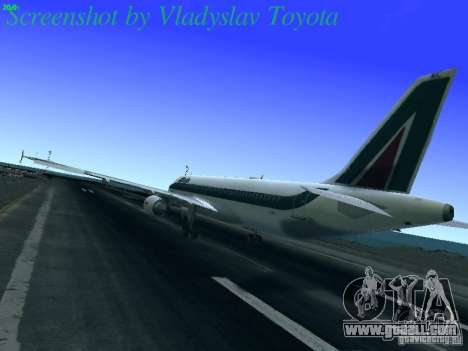 Airbus A320-214 Alitalia v.1.0 for GTA San Andreas back left view