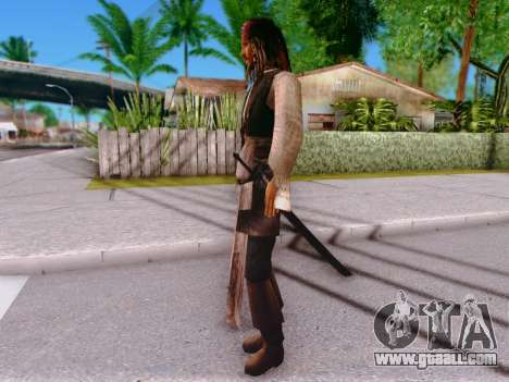 Jack Sparrow for GTA San Andreas forth screenshot