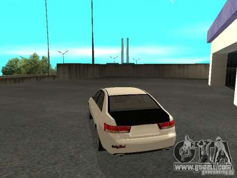 Hyundai Sonata 2008 for GTA San Andreas left view