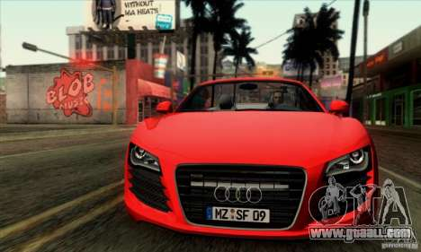 Audi R8 Spyder Tunable for GTA San Andreas back left view