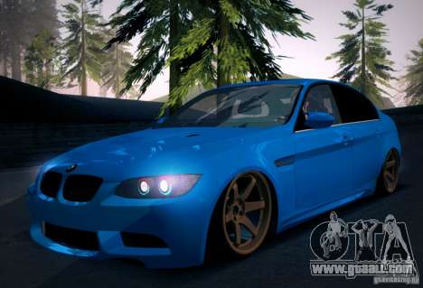 BMW M3 E90 for GTA San Andreas interior