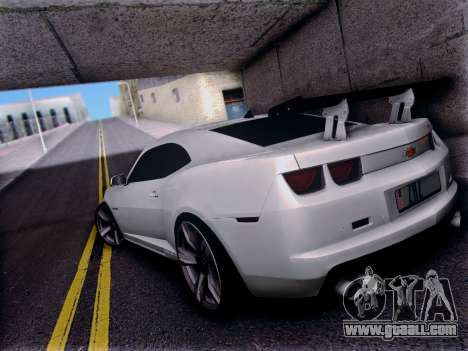 Chevrolet Camaro ZL1 SSX for GTA San Andreas back left view