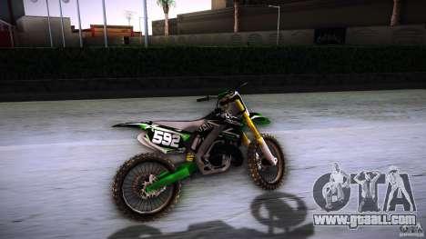 Kawasaki KLX 250S for GTA San Andreas back view