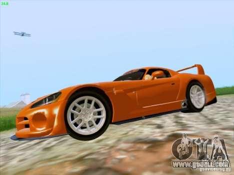 Dodge Viper GTS-R Concept for GTA San Andreas back view