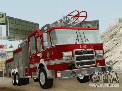 Pierce Arrow LAFD Ladder 43 for GTA San Andreas left view