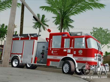 Pierce Saber LAFD Engine 10 for GTA San Andreas side view