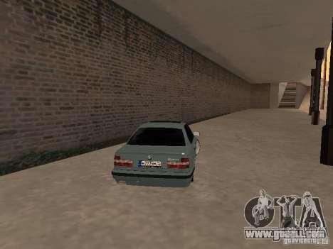 BMW E34 540i V8 for GTA San Andreas back left view