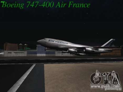 Boeing 747-400 Air France for GTA San Andreas side view