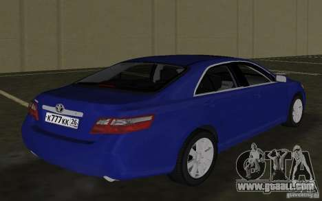 Toyota Camry 2007 for GTA Vice City right view