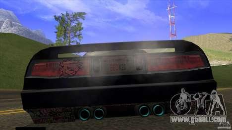 Infernus v3 by ZveR for GTA San Andreas back left view