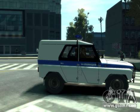 UAZ 31512 Police for GTA 4 right view