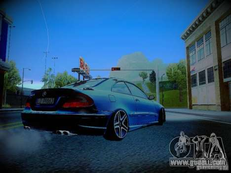 Mercedes-Benz CLK 55 AMG Coupe for GTA San Andreas right view
