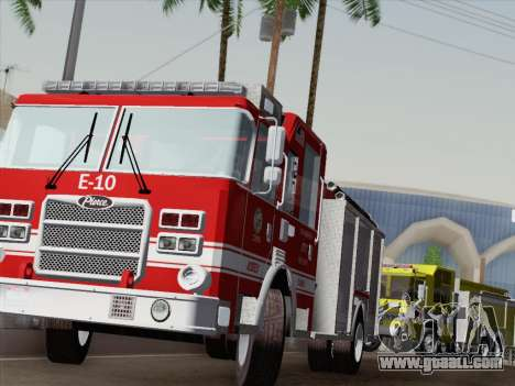 Pierce Saber LAFD Engine 10 for GTA San Andreas interior