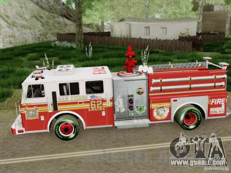 Seagrave Marauder II Engine 62 SFFD for GTA San Andreas inner view