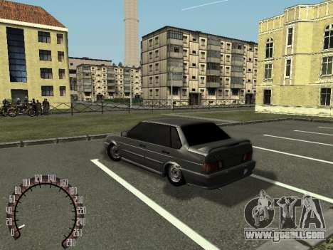 VAZ 2115 for GTA San Andreas back view