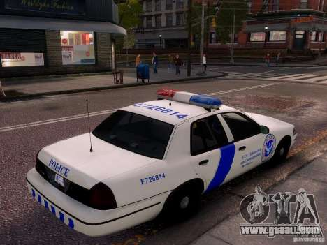 Ford Crown Victoria Homeland Security for GTA 4 side view