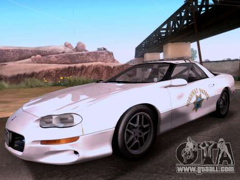 Chevrolet Camaro 2002 California Highway Patrol for GTA San Andreas