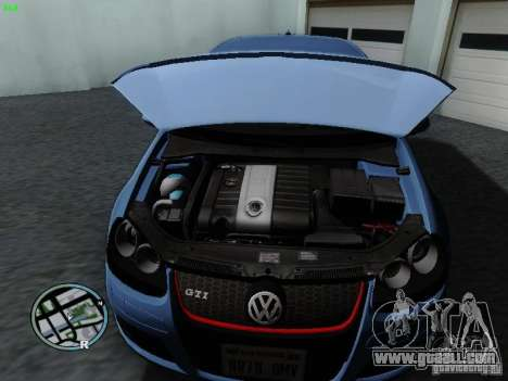 Volkswagen Golf V R32 Black edition for GTA San Andreas back view