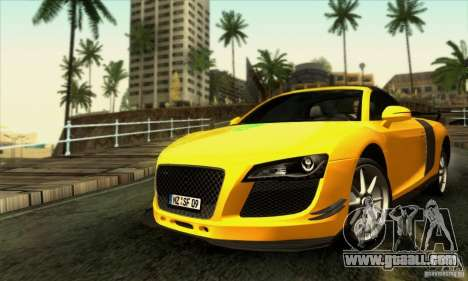 Audi R8 Spyder Tunable for GTA San Andreas interior