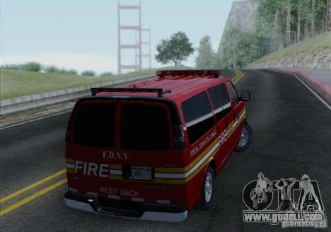 Chevrolet Express Special Operations Command for GTA San Andreas right view