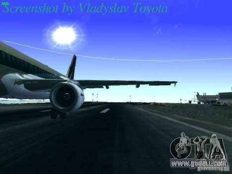Airbus A320-214 Alitalia v.1.0 for GTA San Andreas inner view