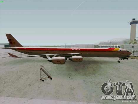 Airbus A-340-600 Iberia for GTA San Andreas left view