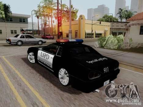 Elegy Police LS for GTA San Andreas left view
