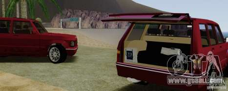 Huntley Freelander for GTA San Andreas back view