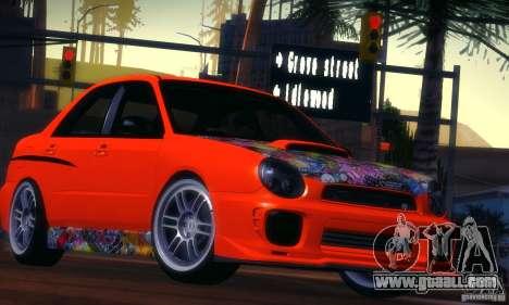 Subaru Impreza WRX for GTA San Andreas left view