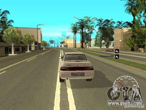 Speedometer Lada Priora for GTA San Andreas third screenshot