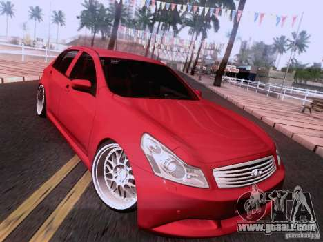 Infiniti G37 Sedan for GTA San Andreas wheels