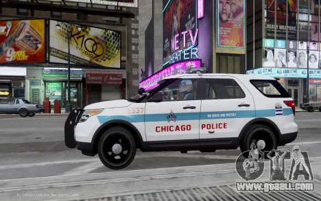 Ford Explorer Chicago Police 2013 for GTA 4 left view