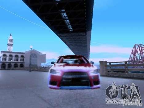 Mitsubishi Lancer Evolution X v2 Make Stance for GTA San Andreas back view