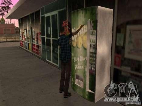 Busy gas station in Los Santos for GTA San Andreas sixth screenshot