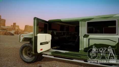 HD Patriot for GTA San Andreas back view