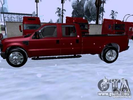 Ford F-350 Super Duty for GTA San Andreas right view