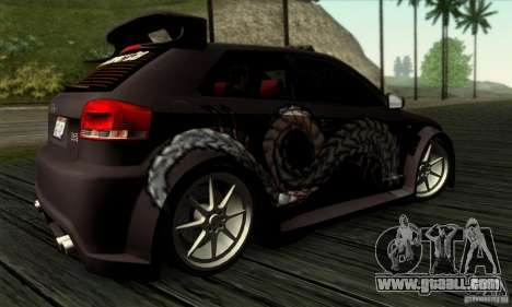 Audi A3 Tunable for GTA San Andreas upper view