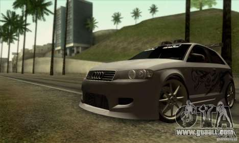 Audi A3 Tunable for GTA San Andreas bottom view